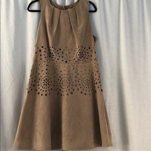 Jessica Simpson Dresses - Jessica Simpson suede laser cutout dress